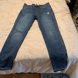 "Madewell 10"" High Rose Skinny Size 27"